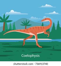 Coelophysis. Prehistoric animal