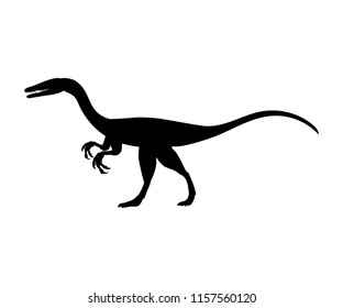 Coelophysis silhouette dinosaur jurassic prehistoric animal