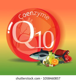 Coenzyme q10. Healthy eating. Normalization of cardiac activity. Natural organic products with a high content of coenzyme q10