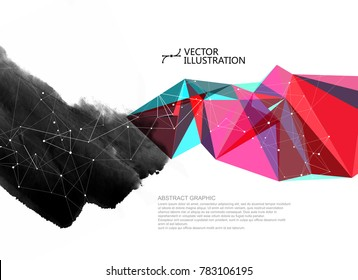 The coexistence of traditional and modern, vector, abstract conceptual background.