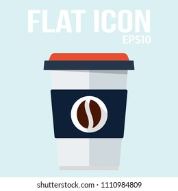 Cofee cup icon in trendy flat style isolated on light background. Cofee cup symbol for your design, logo, UI. Vector illustration, EPS10.