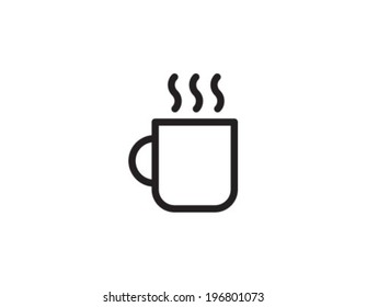 Cofee Cup Outline Icon Symbol