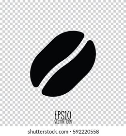 Coffe bean vector icon. Flat style for graphic and web design, Modern simple vector sign. Internet concept. Trendy symbol for website design web button, mobile app.