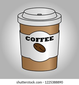 coffe with caffeine cup vector image