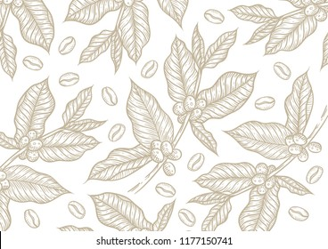 Coffe vintage pattern