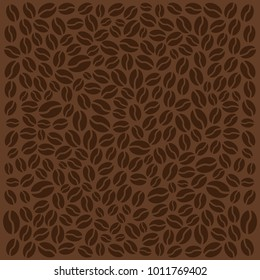 Coffee background with beans. Vector illustration