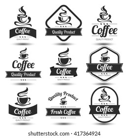 coffee badges and label design icon set , vector illustration