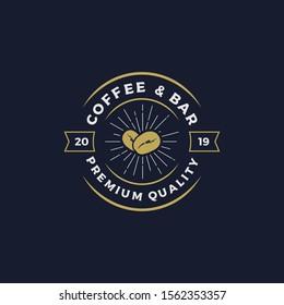 Coffee & bar logo design vector illustration