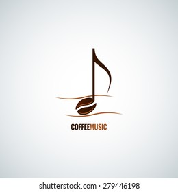 coffee bean concept music background
