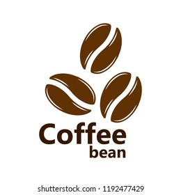 Coffee bean icon. Flat pictogram, business, marketing, internet concept. Vector symbol for web site design or button to mobile app. Logo illustration