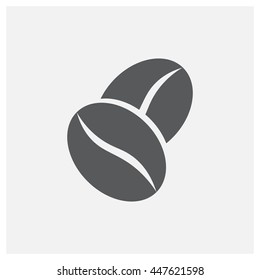Coffee bean icon, vector