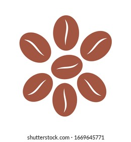 coffee bean icon vector illustration sign design