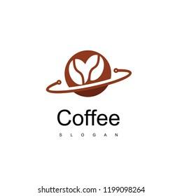 Coffee Bean Logo Design Vector