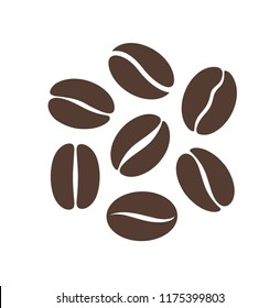 Coffee bean logo. Isolated coffe beans on white background. EPS 10. Vector illustration
