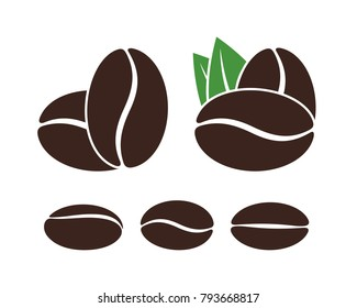 coffee beans logo images stock photos vectors shutterstock https www shutterstock com image vector coffee bean logo isolated coffe beans 793668817