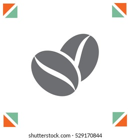 Coffee Bean vector icon. Aromatic drink symbol.