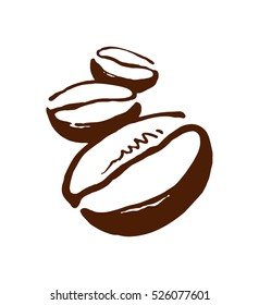coffee bean vector image, laconic picture of coffee