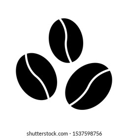 Coffee beans icon design. Coffee beans icon in trendy flat style design. Vector illustration.