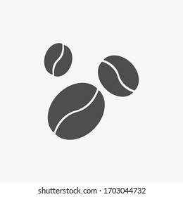 Coffee beans icon isolated on background. Coffee symbol modern, simple, vector, icon for website design, mobile app, ui. Vector Illustration