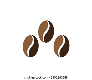 coffee beans icon for coffee shop symbol background, vector illustration. - Vector