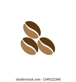 coffee beans icon for coffee shop symbol background, vector illustration