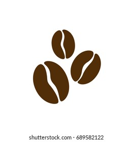 Coffee beans icon, sign. Vector illustration