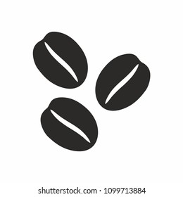 Coffee beans icon. Vector