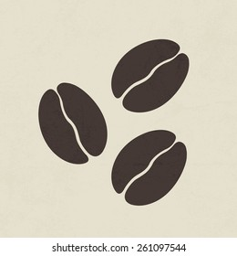 Coffee beans icon - Vector