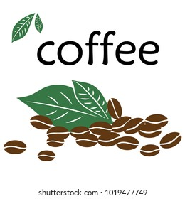 Coffee beans icon vectror illustration on background