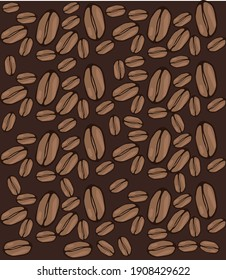 Coffee beans, illustration, vector on a white background.