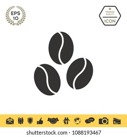 Coffee beans line icon