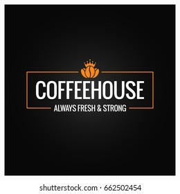 coffee beans logo design background