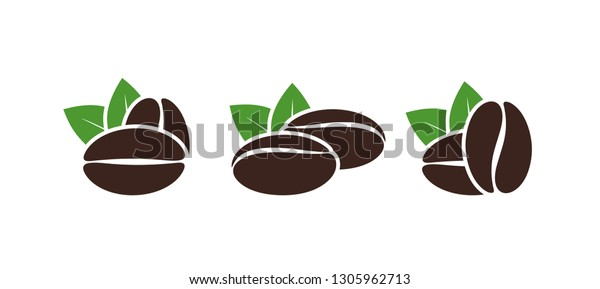 coffee beans set isolated coffe beans stock vector royalty free 1305962713 shutterstock