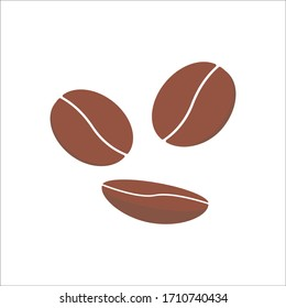 coffee beans set vector on isolate background , coffee beans canvas