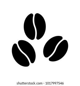 Coffee beans vector icon.