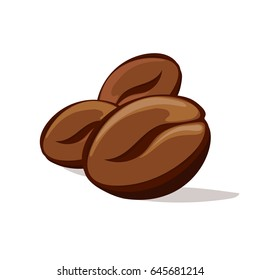 Coffee beans. Vector illustration.