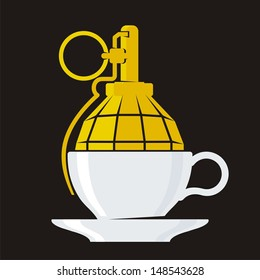 Coffee Break. The comic image of urban-style for printing on T-shirts.