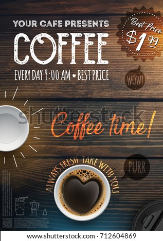 coffee break flyer template leaflet banners のベクター画像素材