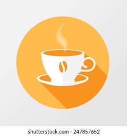 coffee break icon. flat style
