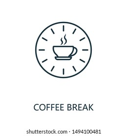Coffee Break outline icon. Thin line concept element from productivity icons collection. Creative Coffee Break icon for mobile apps and web usage.
