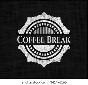 Coffee Break written on a chalkboard