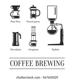 Coffee brewing methods. Ways to brew coffee