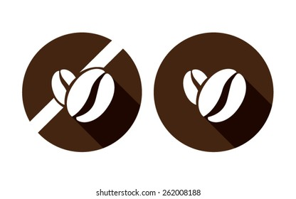 coffee brown bean vector icon on white background food allergy