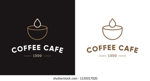 Coffee cafe logo Design with modern and vintage concept