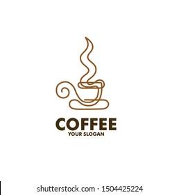 coffee cafe logo line art