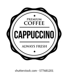 Coffee Cappuccino vintage stamp