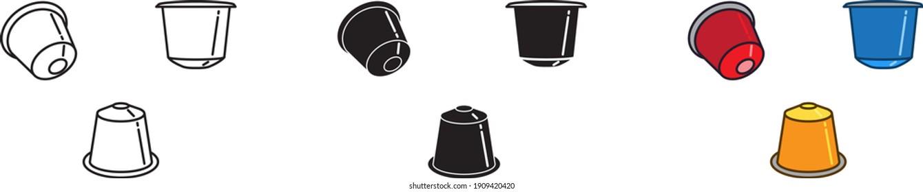 coffee capsule icon , vector illustration