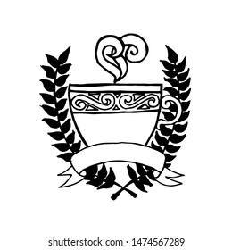 Coffee club. Coffee crest. Cofffee logotype, illustration design elements vector.