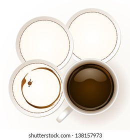 Coffee with coaster paper