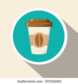 Coffee concept with coffee mug design, vector illustration 10 eps graphic